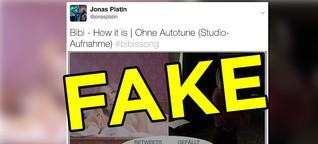 Sorry Leute, aber diese angebliche Studioaufnahme von Bibis Song ist fake