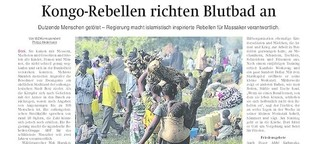 Kongo-Rebellen richten Blutbad an