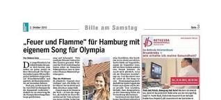 Feuer und Flamme für  einen Olympiasong