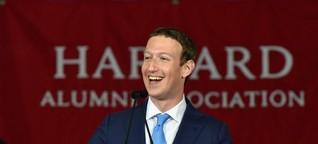 Harvard-Rede von Mark Zuckerberg: Rette doch erst einmal Facebook