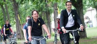 Wer mit dem Fahrrad rast, verliert