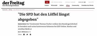 """Langversion Interview Thomas Fischer (ehem. BGH): """"Die SPD hat den Löffel längst abgegeben"""""""