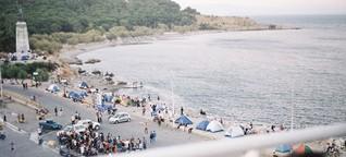 Umarmen auf Lesbos