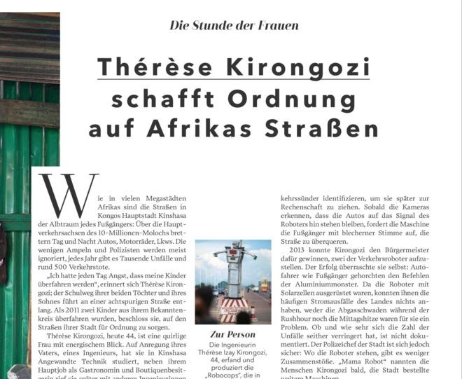 Thérèse Kirongozi schafft Ordnung auf Afrikas Straßen