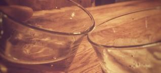 "Auspicious drinks and liquid ""hellos"""