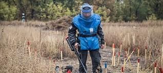 Der schwierige Kampf gegen Landminen in der Ukraine