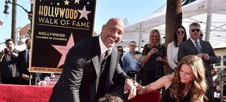 The Rock' Dwayne Johnson receives his star on the Hollywood Walk of Fame