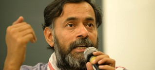 Psephologist Mr.Yogendra Yadav decodes  'Gujarat Model' for Dalit & Minorities