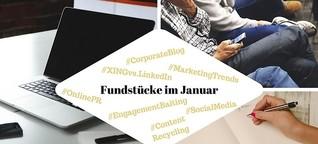 Unsere Fundstücke zu Online-PR und Social Media - 18.01.2018