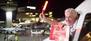 BILD beim letzten Air-Berlin-Flug - Zwischen Mega-Party und Trauerfeier