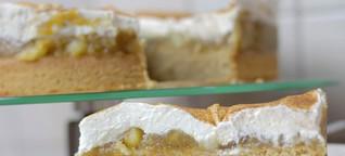 Apfelmuskuchen Rezept - Saftiger Kuchen mit Apfelmus