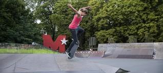 Skateboard-Contest: Frauen auf Brettern