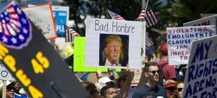 Besuch in Kalifornien: Donald Trump im Feindesland