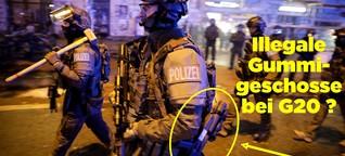 Dieses Dokument zeigt, dass die Polizei bei G20 Gummigeschosse benutzt hat