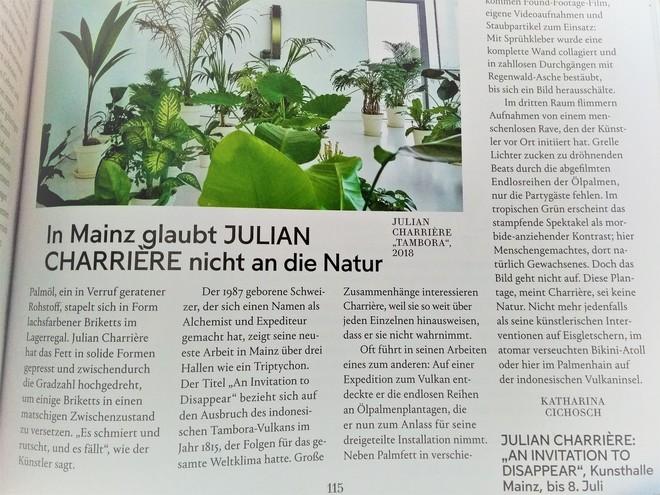 Natur- als Kulturgeschichte (et vice versa): Julian Charrière in Mainz