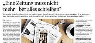 """""""Eine Zeitung muss nicht mehr über alles schreiben"""""""