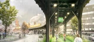 Oben U1, unten Fahrradweg: ein Plan für die Hauptstadt der Zukunft