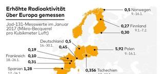 Radioaktivität über Europa - woher kommt das Jod-131?
