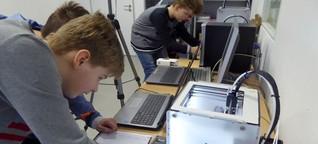Mathematik zum Anfassen - Unterricht mit 3-D-Drucker in der Sekundarschule Olpe