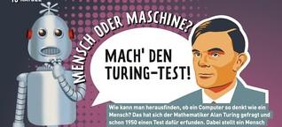 Mensch oder Maschine? Mach den Turing Test!