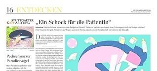 """""""Ein Schock für die Patientin"""""""