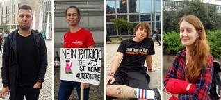"""""""Neonazis waren in meiner Kindheit und Jugend allgegenwärtig"""" - Demonstranten bei #wirsindmehr"""