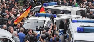 """Chemnitz: """"Die Polizei ist heute deutlich massiver vor Ort"""" - SPIEGEL ONLINE - Video"""