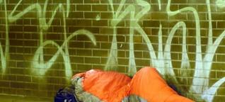 Obdachlos im Winter: Lebensgefährlich kalt