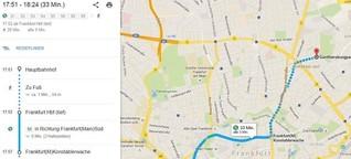 """Routenplaner für Frankfurt: Keine Busse und Bahnen auf """"Google Maps"""""""