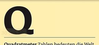 Freitag A-Z: Quadratmeter