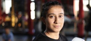 In Pakistan's emerging MMA scene, a woman among men rises