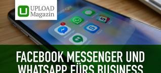 Facebook Messenger und WhatsApp im Business-Einsatz