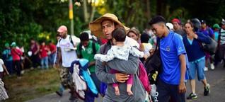Migranten auf der Suche nach Sicherheit in den USA