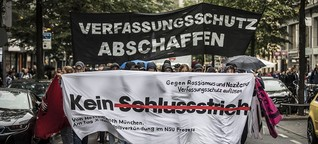 Demo in Frankfurt: Demo in Frankfurt nach NSU-Prozessende