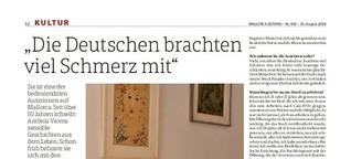 """""""Die Deutschen brachten viel Schmerz mit"""""""