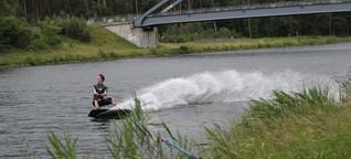 Kanalsurfen: Mit Tempo 100 über den Mittellandkanal