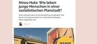 Nowa Huta: Wie leben junge Menschen in einer sozialistischen Planstadt?