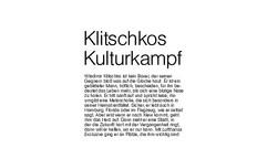 Klitschkos Kulturkampf