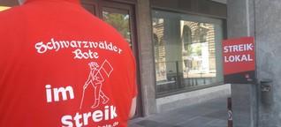 Streik der Zeitungsredakteure in Stuttgart