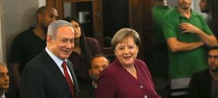 Merkels klare Worte in Israel