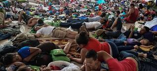 Essen, Kleidung, Wärme: Mexikaner helfen Gruppe von Migranten auf dem Weg in die USA