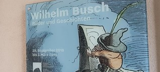 Wilhelm Busch zum 111 Todestag am 9. Januar - Ausstellungsempfehlung: LA8 in Baden-Baden / Wilhelm Busch-Ausstellung