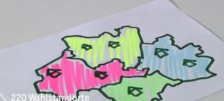 Kurz erklärt: Warum ändert sich zur Bundestagswahl mein Wahllokal?