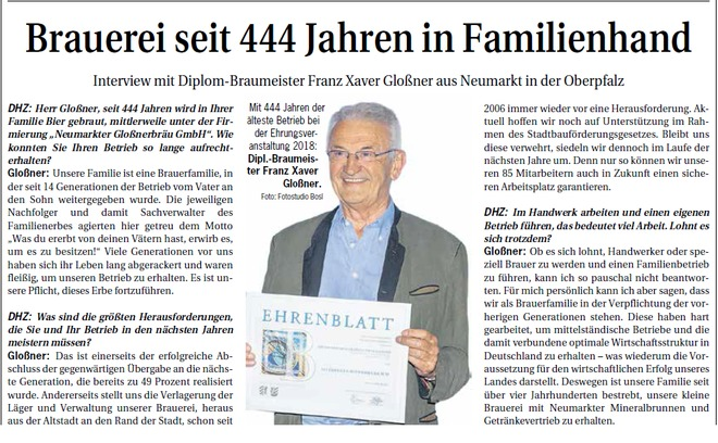 Interview Brauerei Glossner