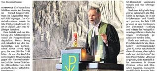 Pastor Große würdigt Namensgeber