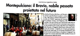 Montepulciano: il Bravìo, nobile passato proiettato nel futuro