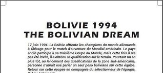 Bolivie 1994 : The Bolivian Dream