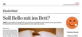 Soll Bello mit ins Bett?