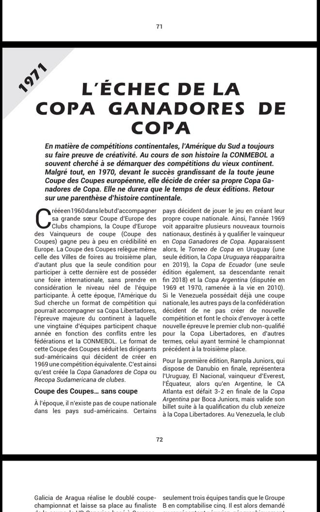 L'échec de la Copa Ganadores de Copa [1971]