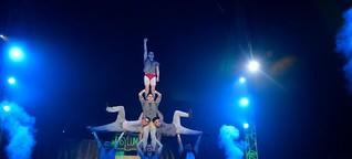 """Artisten, schrille Schreie und viel Grusel beim """"Zirkus des Horrors"""""""